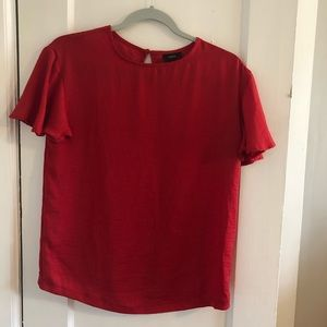 Red Target blouse